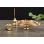 Incense Holder 2 in 1 Pure Solid Brass for Incense Stick & Incense Coil Shinny and Rust Free