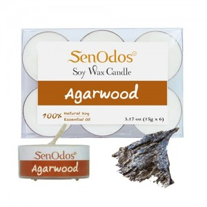 Tealight Set Agarwood Soy Candles (15g x 6)