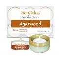 Tealight Set Agarwood Soy Candles + Candle Holder Set